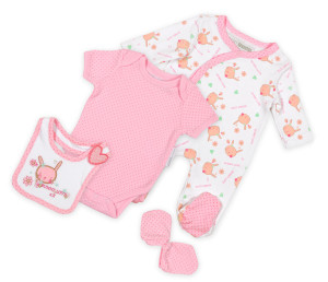 базовый набор одежды новорожденого