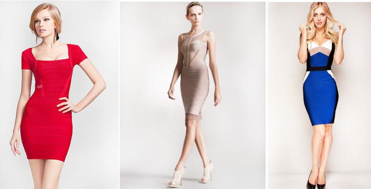особенности бандажных платьев
